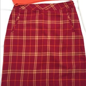 Laura Scott plaid skirt with liner